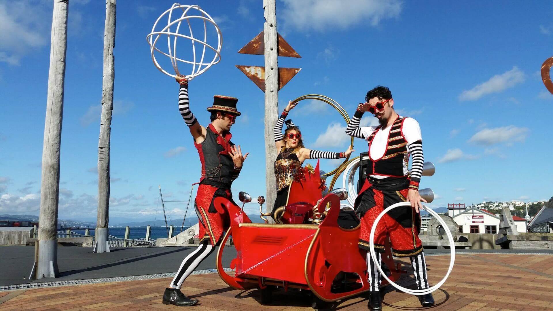 steampunk santa sleigh soundsystem