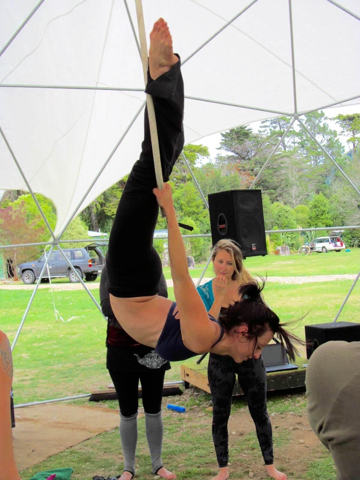 Tina Phoenix Teaching Aerial Lyra