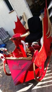 santa sleigh mobility scooter