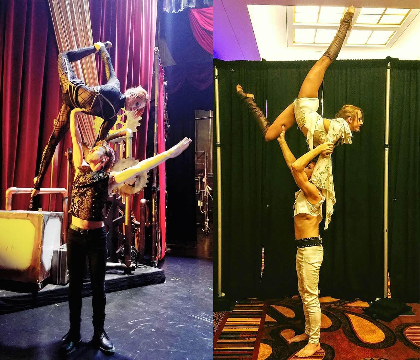 adagio perfomers, Rewi and Tina www.cirquesanity.com