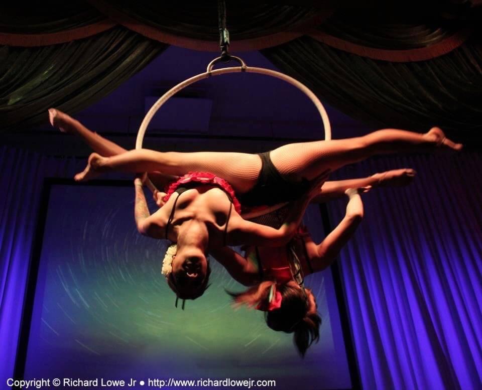Aerial hoop lyra duet Los Angeles
