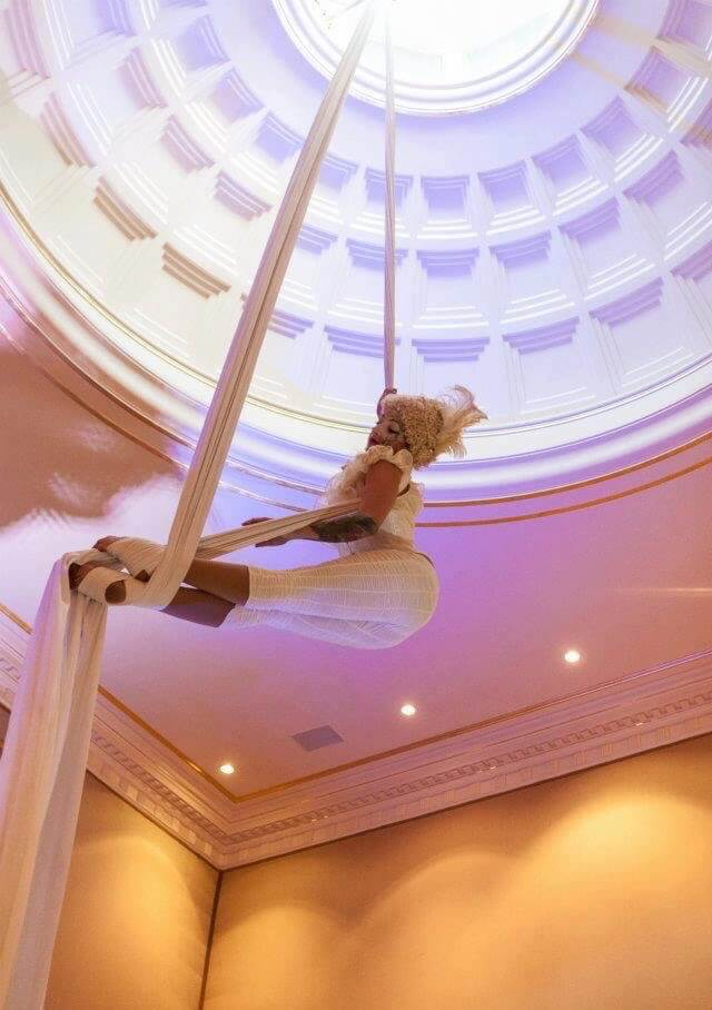 Aerialist Tina Phoenix on Silks