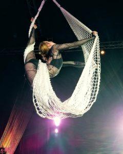 Aerial Cargo Net Performer Tina Phoenix