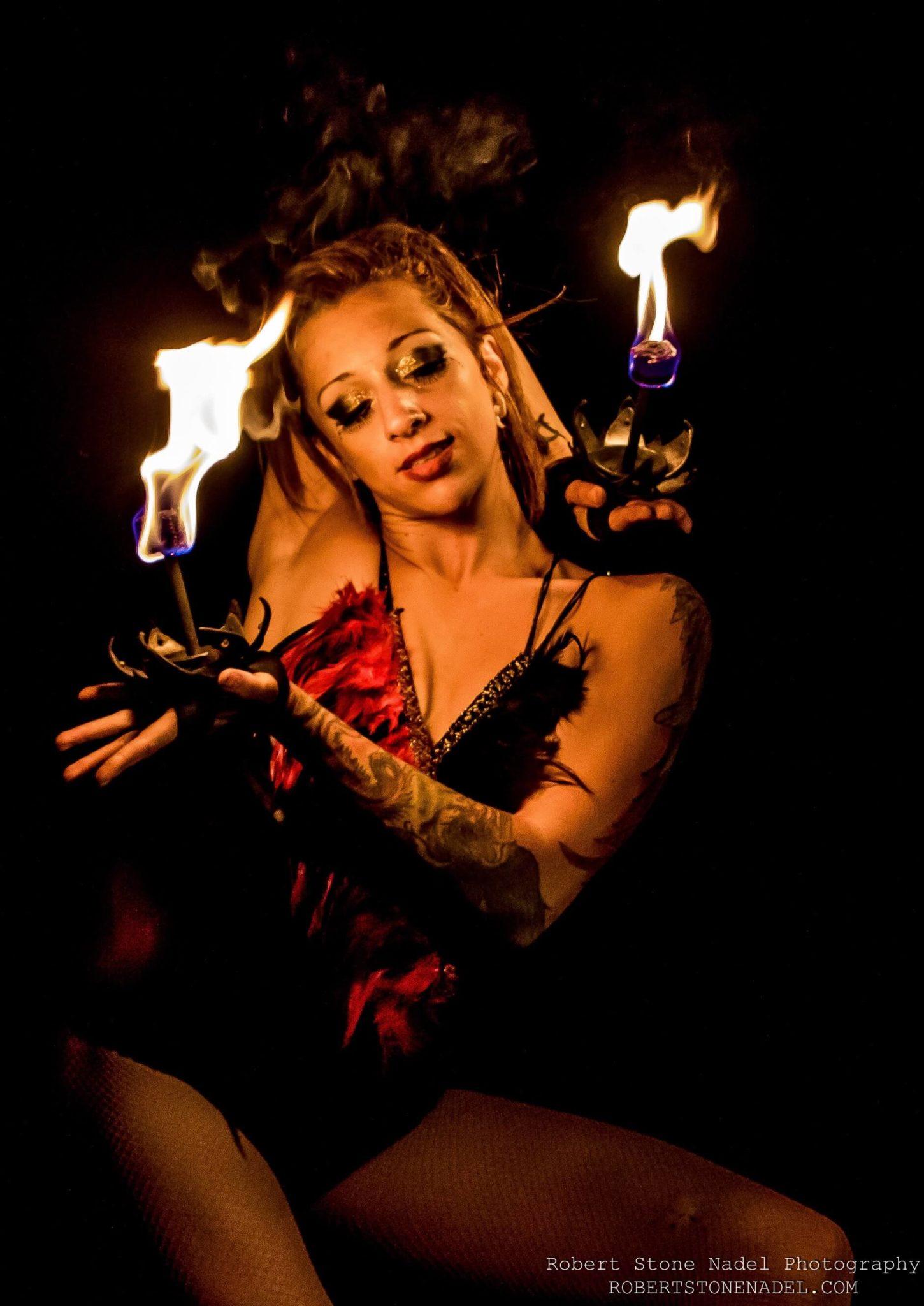 Tina Phoenix Fire Palm Torches