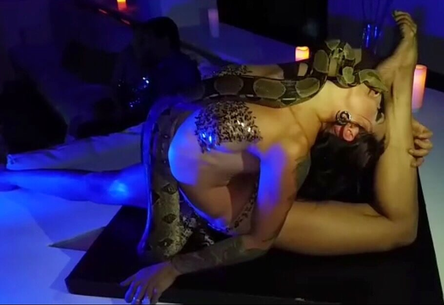 Snake Charmer Tina Phoenix and Gypsy Snake