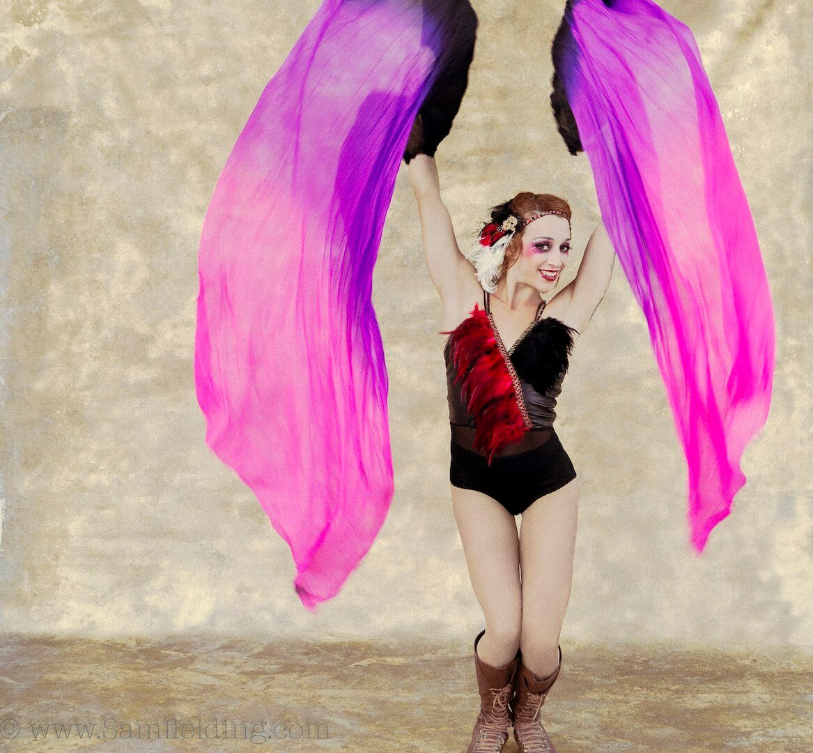 Silk Fan Dancing By Tina Phoenix