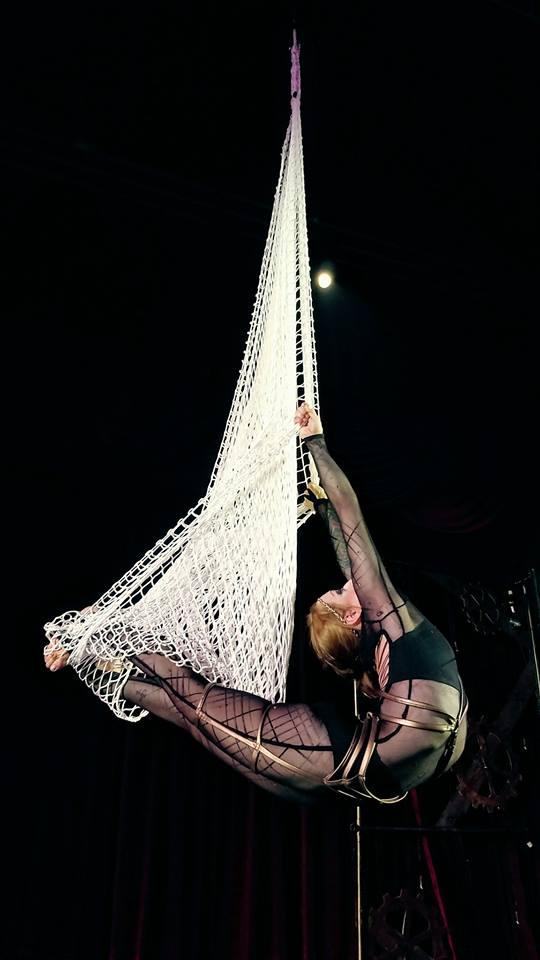Aerial Net Performer Tina Phoenix