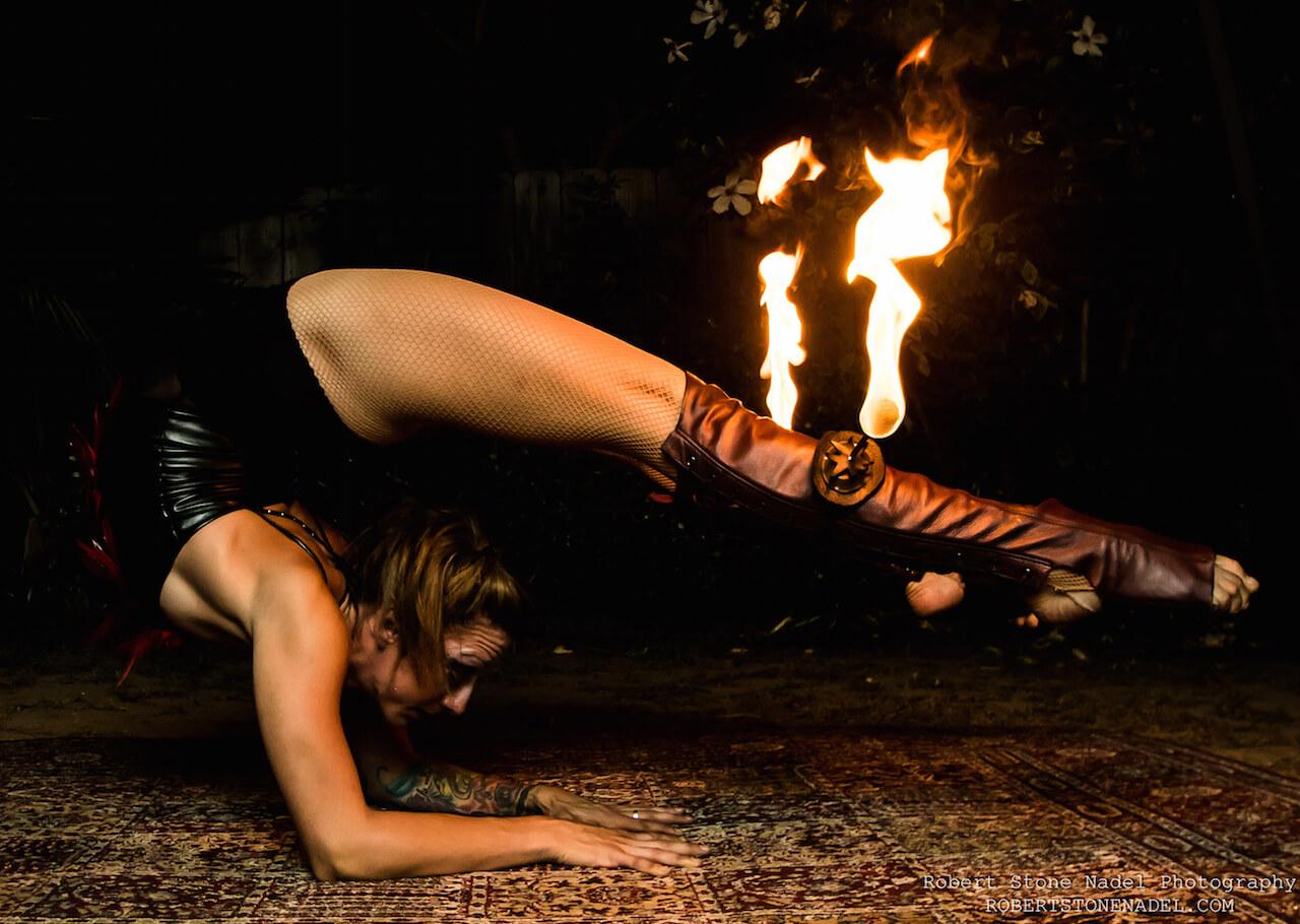 Fire Contortionist Tina Phoenix