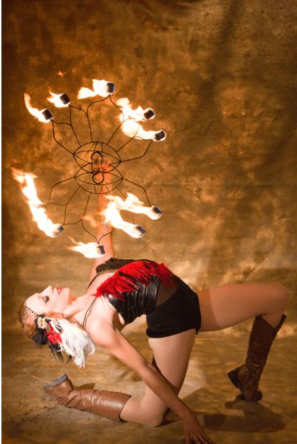 Tina Phoenix Fire Fans
