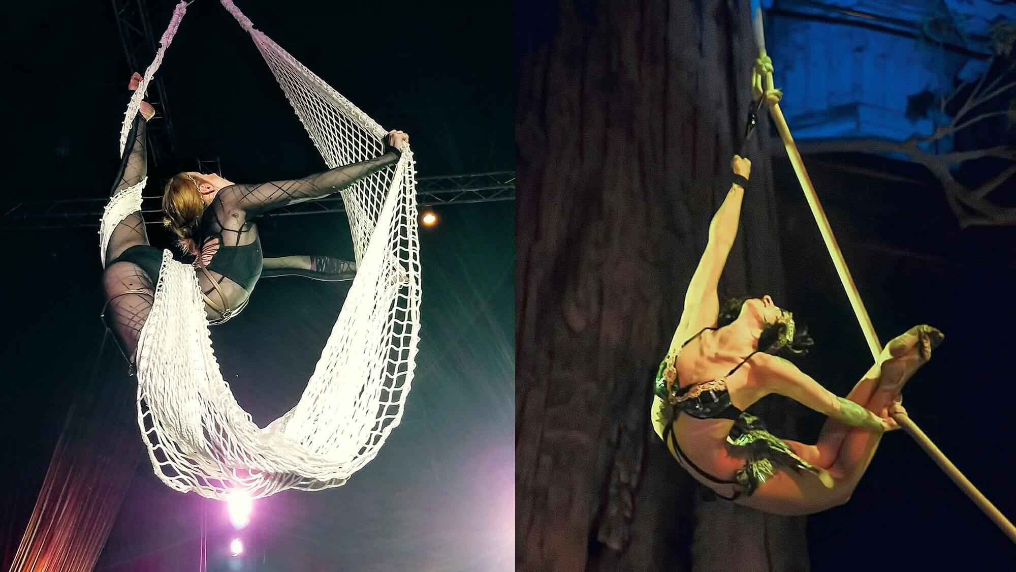 Aerial Net & Spanish Web performer, Tina Phoenix