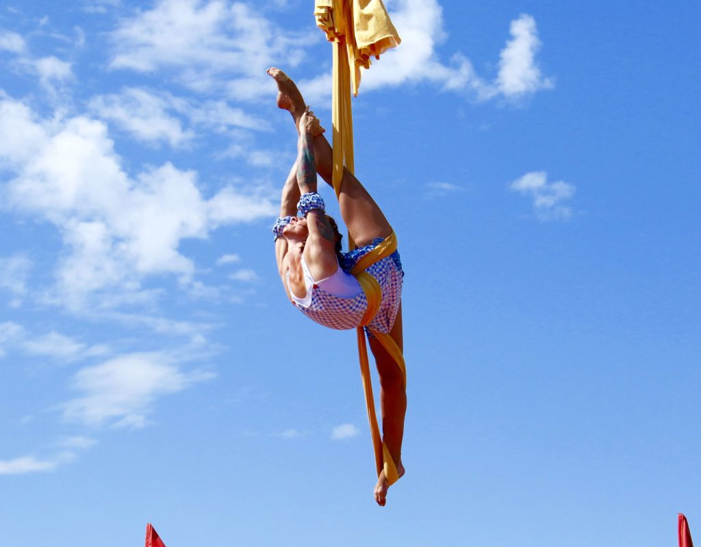 aerial hammock is an apparatus made of various colorful silks  similar to aerial silks but tied in a loop or sling and performed in the form of a hammock or     aerial hammocks   cirquesanity   extraordinary circus mesmerising      rh   cirquesanity