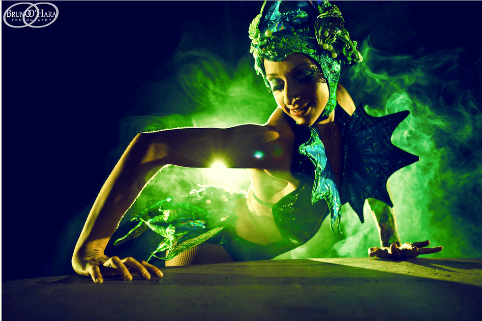 LED Contortion Act by Tina Phoenix